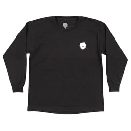 SkateHut Scooter Ride Long Sleeve Kids T Shirt - Black
