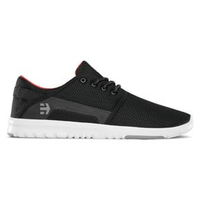 Etnies Scout Skate Shoes - Black/Dark Grey/Red