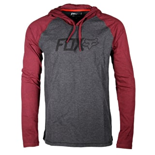 Fox Diskors Hoodie - Heather Burgundy