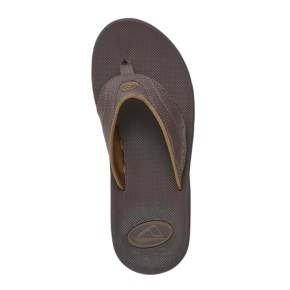 Reef Fanning Flip-Flops - Brown Plaid