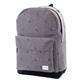 Spiral OG Core Backpack - Bird Crosshatch Charcoal