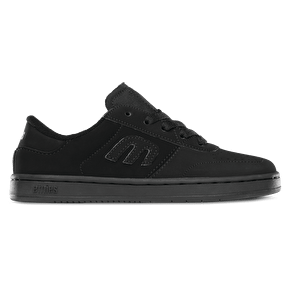 Etnies Lo-Cut Kids Shoes - Black/Black UK Size 2 (B-Stock)