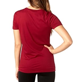Fox Certain Womens T-Shirt - Dark Red