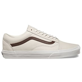 Vans Old Skool Skate Shoes - (Leather) Blanc/Potting Soil