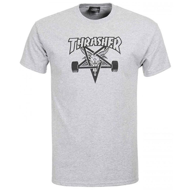 Thrasher Skategoat T Shirt - Grey