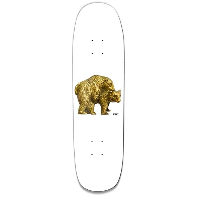Grizzly Birds And Bees Cruiser Skateboard Deck - White 8.375""