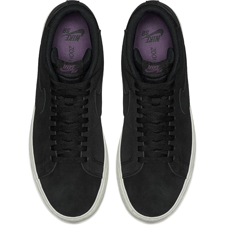 Nike SB Zoom Blazer Mid Decon Skate Shoes - Black/Pro Purple