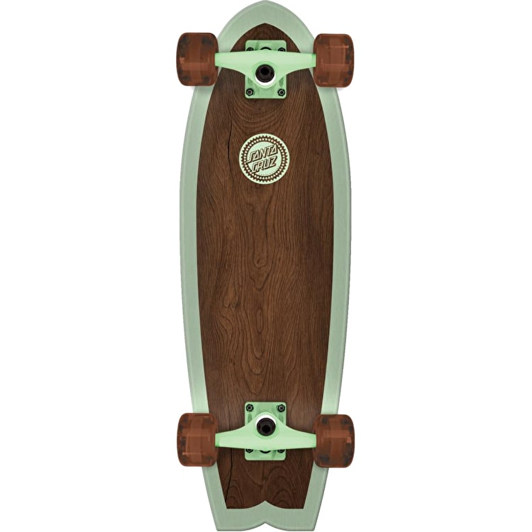Santa Cruz Classico Shark Complete Cruiser - Brown/Green 27.7""