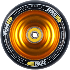 Eagle Gold Anodized Full Metal Core Black PU Wheel - 110mm