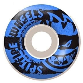 Spitfire Shredded Blue Skateboard Wheels - 53mm