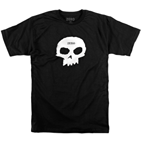 Zero Skateboard T-Shirt - Single Skull Premium Black