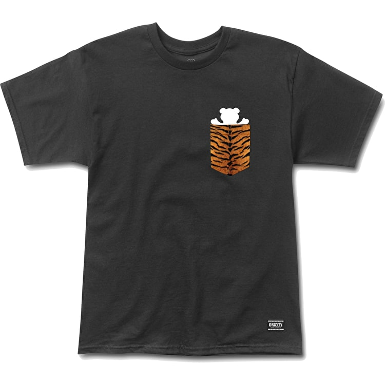 Grizzly Tiger Pocket T Shirt - Black