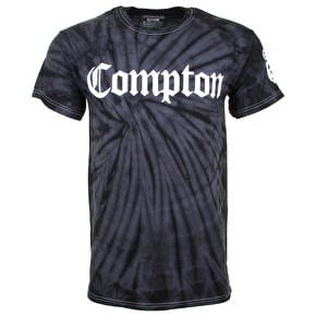 Gold Groovy Compton White  Logo T-Shirt - Black