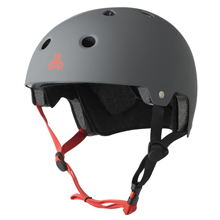 Triple 8 Brainsaver Dual Certified Helmet Gun Matte Rubber