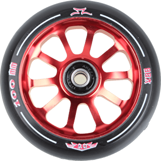 AO Delta 2017 10 Hole 100mm Scooter Wheel - Red