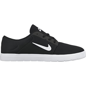 Nike SB Portmore Ultraliight Shoes - Black/White