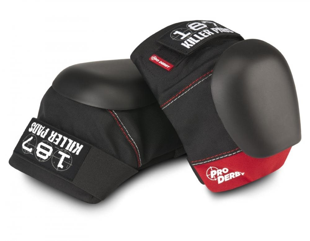 Image of 187 Pro Derby Knee Pads - Red