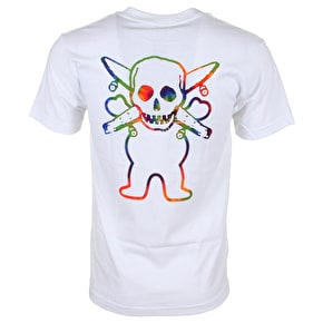 Grizzly X Fourstar Tie-Dye Pirate T-Shirt - White