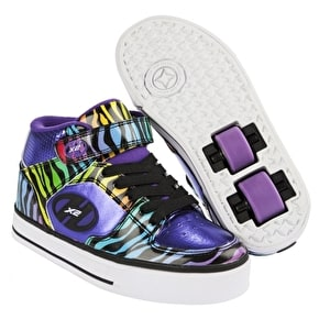 B-Stock Heelys X2 Cruz - Purple/Rainbow/Zebra - Junior UK 12 (Cosmetic Damage)