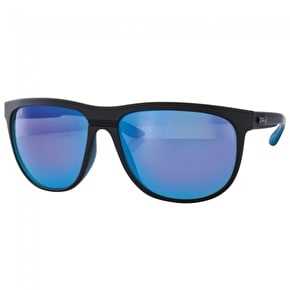 Carve Matrix Sunglasses - Matte Black/Blue Revo