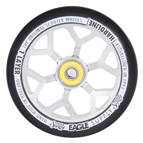 Eagle 110mm Hardline 1-Layer 6M Panther Scooter Wheel - Black/Silver