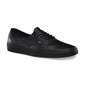 Vans Authentic Decon Shoes - (Premium Leather) Black/Black