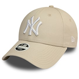 New Era New York Yankees MLB 9FORTY League Essential Womens Cap - Stone/Optic White