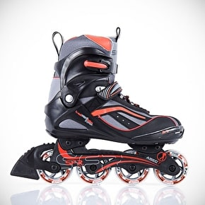 SFR Milan Inline Skates - Black/Red UK10 (B-Stock)