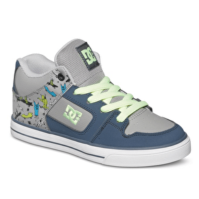 DC Radar Kids' Shoes - Navy/Grey