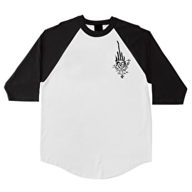 Independent Jessee 3/4 Sleeve Raglan T shirt - White/Black