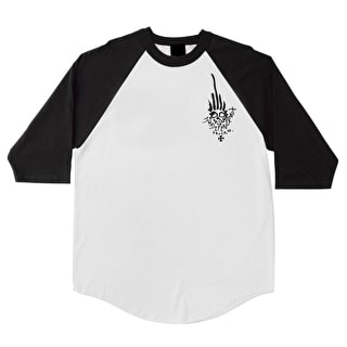 Independent Jessee 3/4 Sleeve Raglan T-Shirt - White/Black