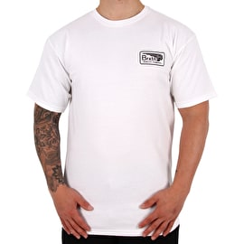 Brixton Messenger T-Shirt - White/Black