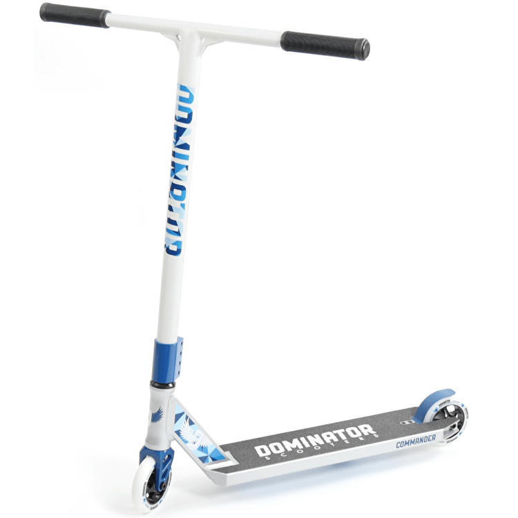 Dominator Commander Complete Scooter - Silver/White/Blue