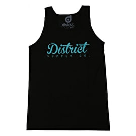 District Supply Co. Script Tank Top - Black
