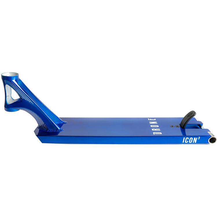 """Drone Icon 3 Hybrid Scooter Deck - Trans Blue 22"""" (120mm)"""