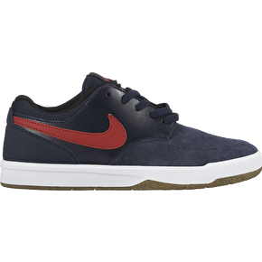 Nike SB Fokus Kids Shoes - Obsidian/Gym Red
