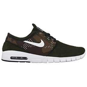 Nike SB Stefan Janoski Max L Shoes - Sequoia/White