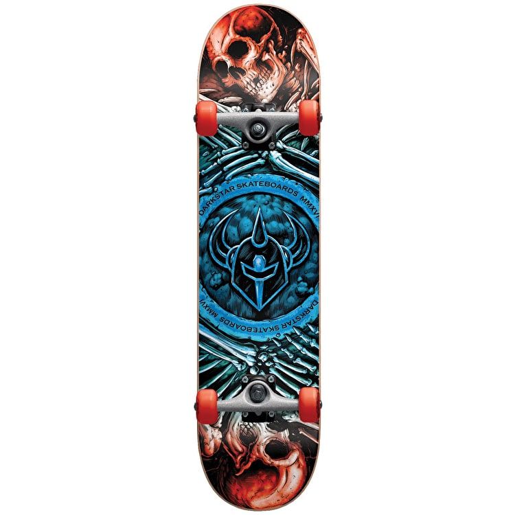 Darkstar Remains Soft Wheel Kids Complete Skateboard w/Stocking - Blue Fade 7""