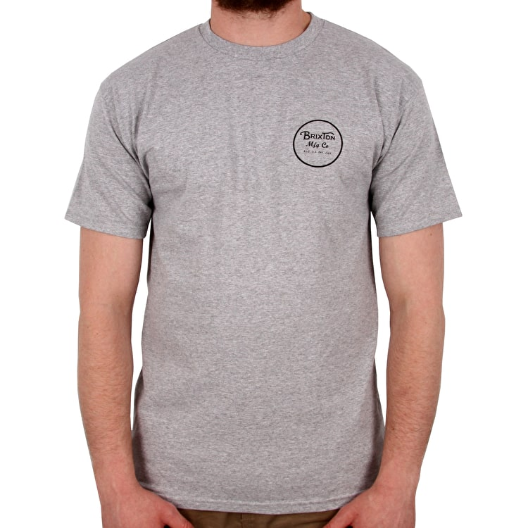 Brixton Wheeler II Short Sleeve Standard T shirt - Heather Grey