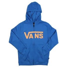 Vans Classic Kids Zip Hoodie - Victoria Blue/Orange