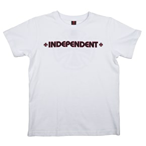 Independent Bar Cross Kids T-Shirt - White