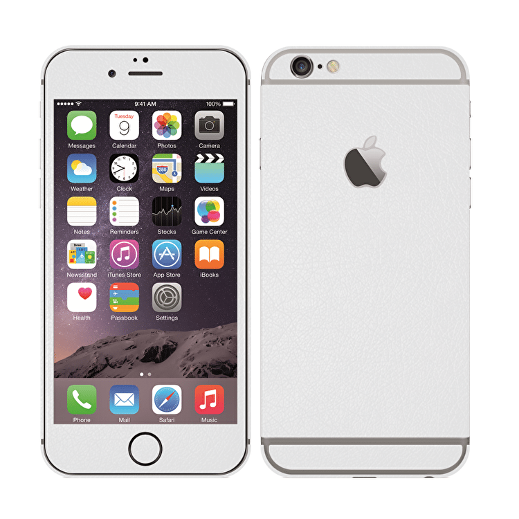 UKarbon iPhone 6/6s Wrap - White Leather