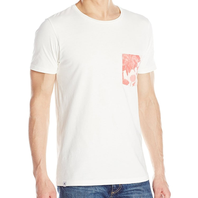 WeSC Sarek Hawaii Pocket T-Shirt - Winter White