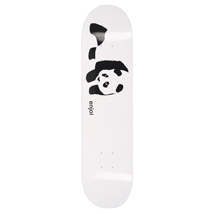 Enjoi Whitey Panda Logo R7 Skateboard Deck - White 7.75""