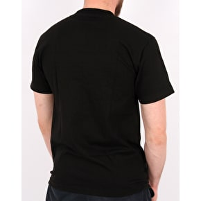 Rebel8 Slashed T-Shirt - Black