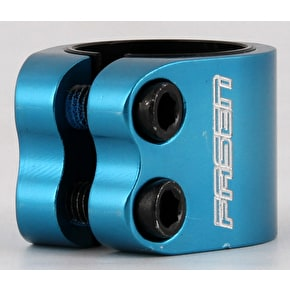 Fasen 2 Bolt Double Scooter Collar Clamp - Teal