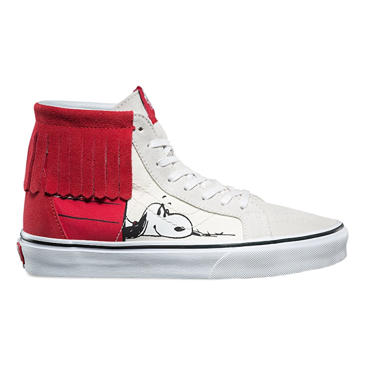 Vans x Peanuts SK8-Hi MOC High Top Shoes - Dog House/Bone