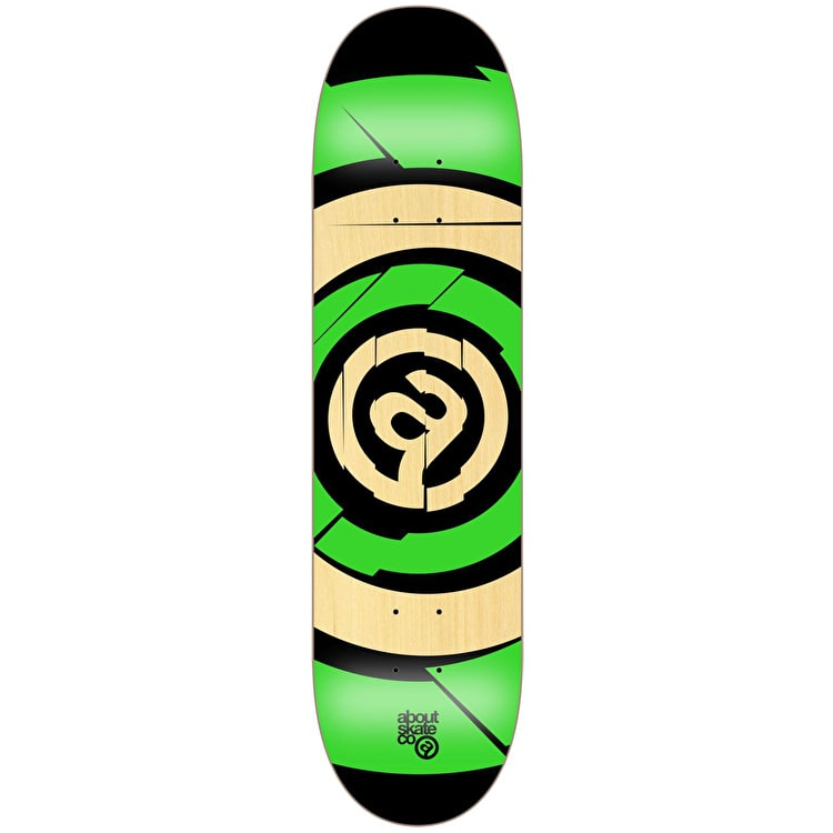 About Team Series Target Skateboard Deck - Fluo Green 8.125""