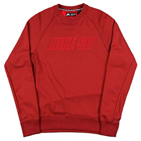 Nike SB Everett Reveal Crewneck - Dark Cayenne/Crimson