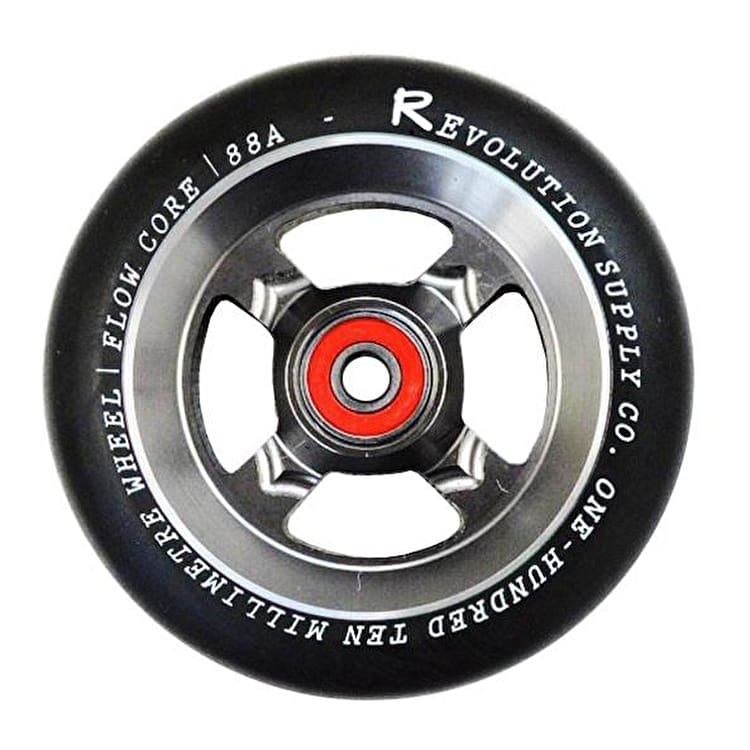 Revolution Flow Core 110mm Scooter Wheel - Raw/Black
